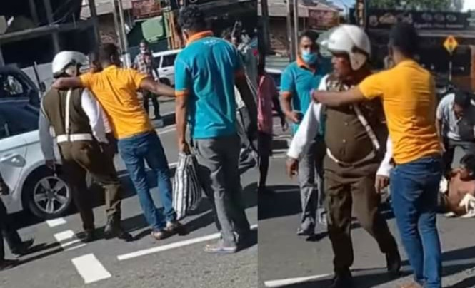 Maharagama Traffic Police constable arrested over assault - Nation Today:  Sri Lankan News